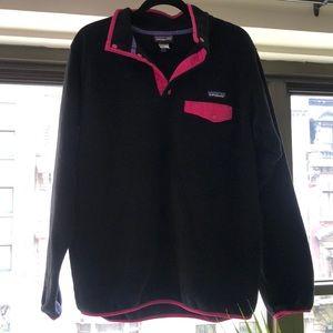 Barely worn black & Pink Patagonia sweatshirt